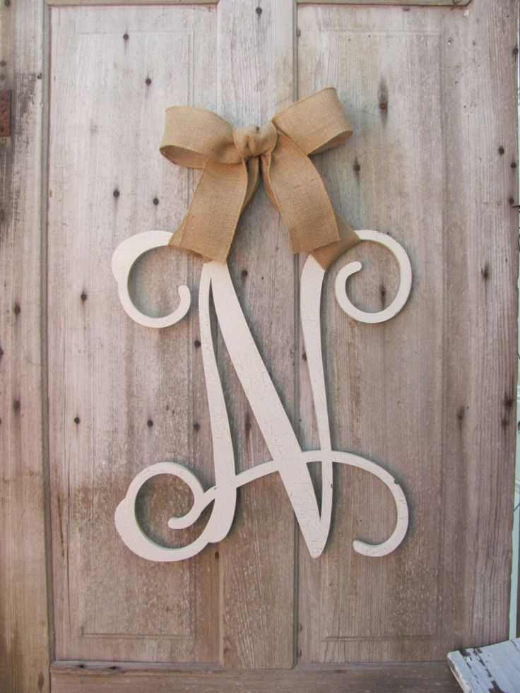 Wooden Letter Monogram Hanger Exterior Home Decor