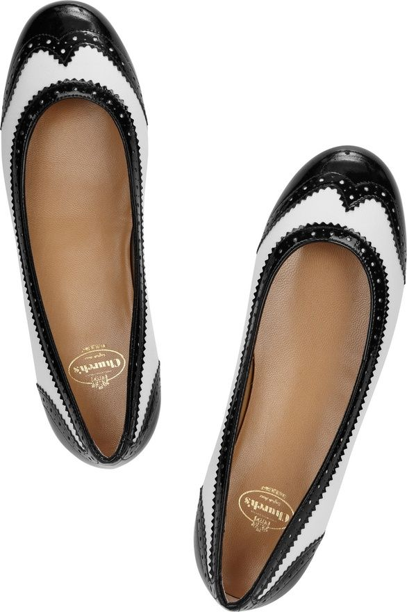 my pair of flats were on sale. since then, i've always been a sucker for  mannish shoes. Anna two-tone leather ballet flats