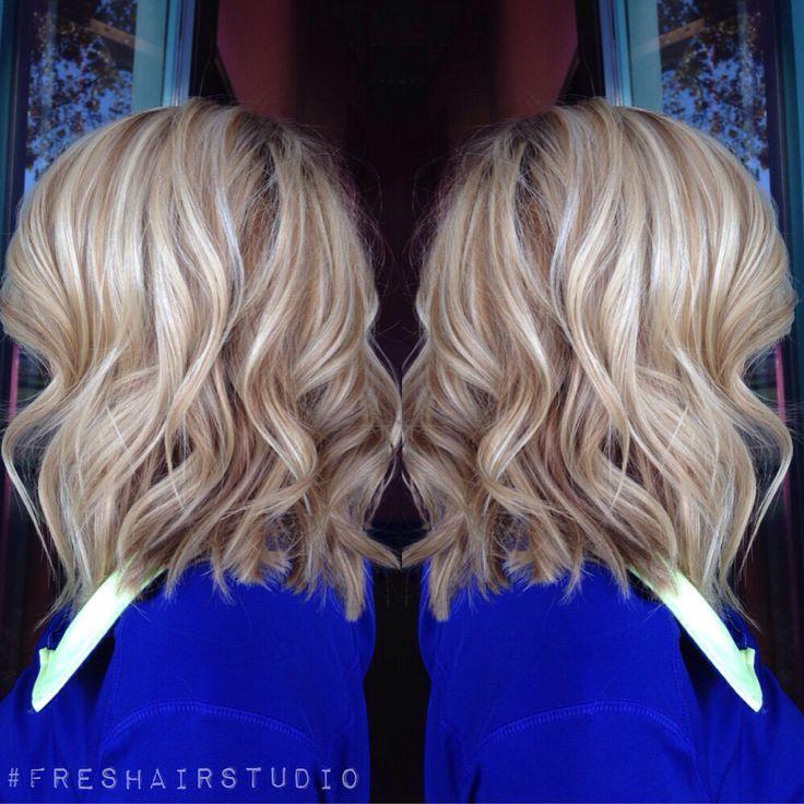 Slight angled bob with a dimensional blonde | Fashion ...