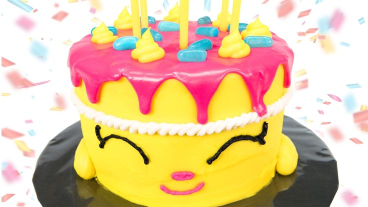 """Shopkins Cake: How to make Shopkins """"Wishes"""" Birthday Cake from Cookies Cupcakes and Cardio"""
