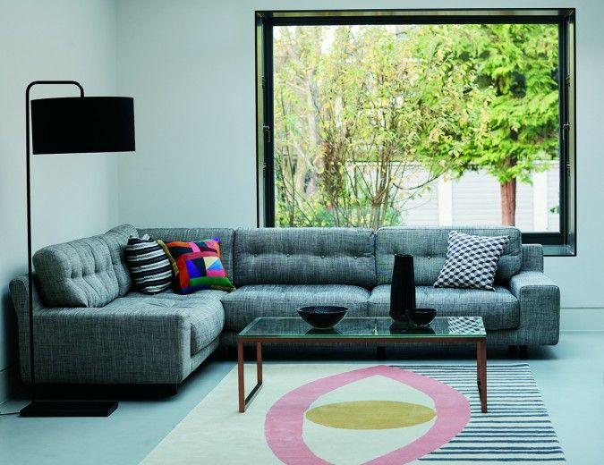 Hendricks Charcoal Fabric Small Left Hand Corner Sofa Corner Sofa Design Small Room Sofa Corner Sofa Fabric