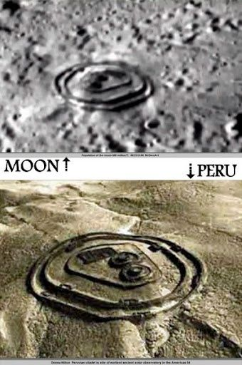 Suppressed NASA photos of the Moon show similar structure as Peru .. Cover up or Hoax