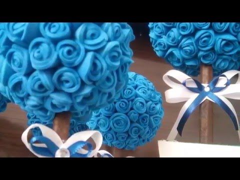 Reciclagem - Como fazer Porta Joia Buquê com Flor em EVA -Dia das Mães - YouTube
