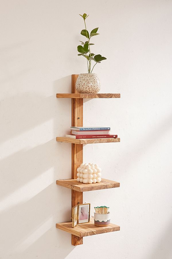Takara Column Wood Wall Shelf Shelves