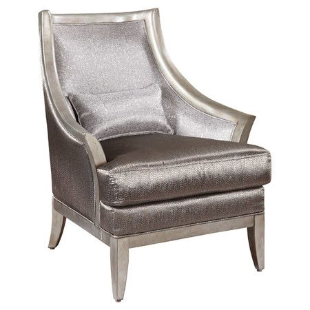 Sleek and chic  this fashionista worthy arm chair showcases textured silver  upholstery and a. 140 best Sit  Stay  images on Pinterest   Joss and main  Accent