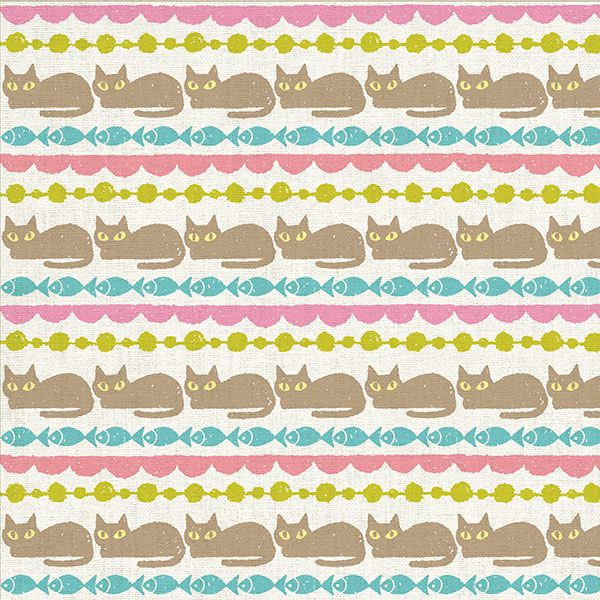 Chie Katayama illustration. #illustration #draw #art #pattern #cat #イラスト #イラストレーション