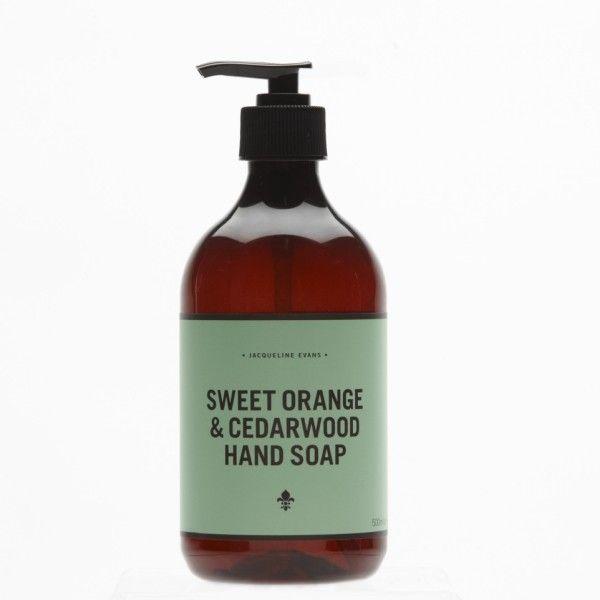 Sweet orange and cedarwood hand soap