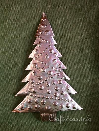 Embossed Metal Christmas Tree - Christmas Tree Ornament