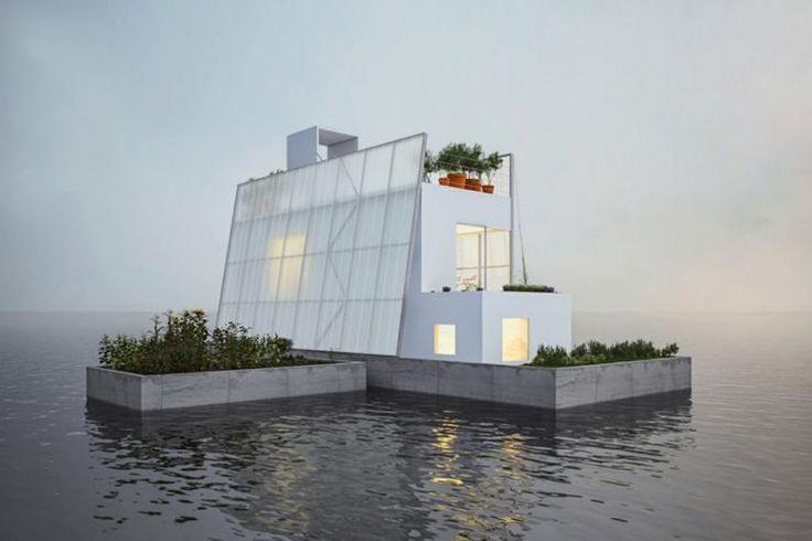 Projet innovant et créatif d'une maison écologique flottante