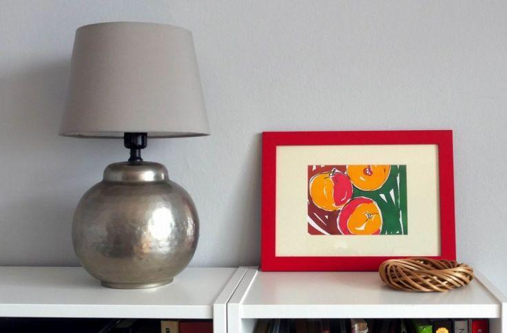 Apples - watercolor framed - Artwork in frame