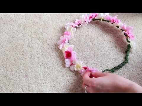 DIY Flower Crown   Materials Needed: 1. Fake Flowers 2. Floral Wire 3. Floral Tape 4. Scissors 5. Pliers