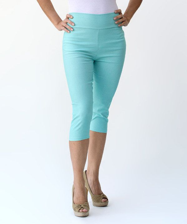 A A Mint Capri Pants - Women | Mint Capris, Capri Pants and Mint