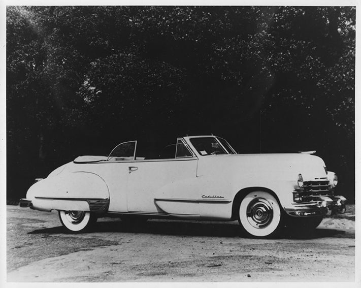Cadillac with White Wall Tyres || 1948