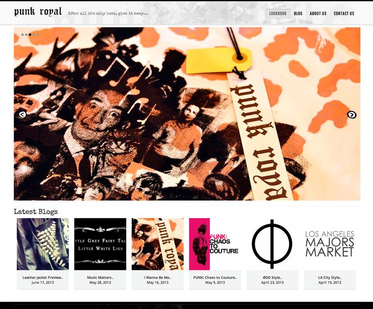 This is a Responsive Design site created by fatBuzz for Punk Royal http://www.punkroyal.com/