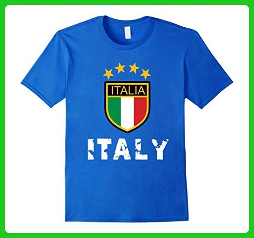 Mens Italia T-Shirt Italy Soccer Tshirt Calcio Futbol Tee Shirt Medium Royal Blue - Sports shirts (*Amazon Partner-Link)