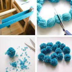 Yarn pom-poms the easiest way ever diy tutorial. Pure genius!                                                                                                                                                                                 More