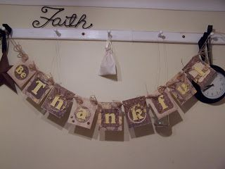 You can never have enough bunting.  I hang something on my shaker rail for most seasons.