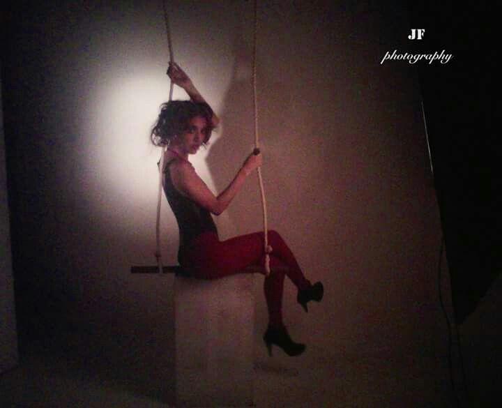 Cln: melissa serna  Locacion: universidad cesde Workshop de moda Tema: circo Trapecista