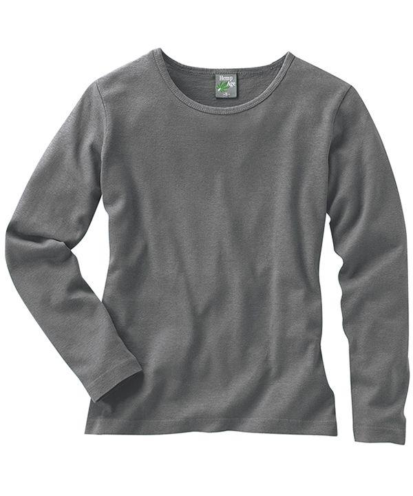 Grijs shirt van hennep en biologische katoen