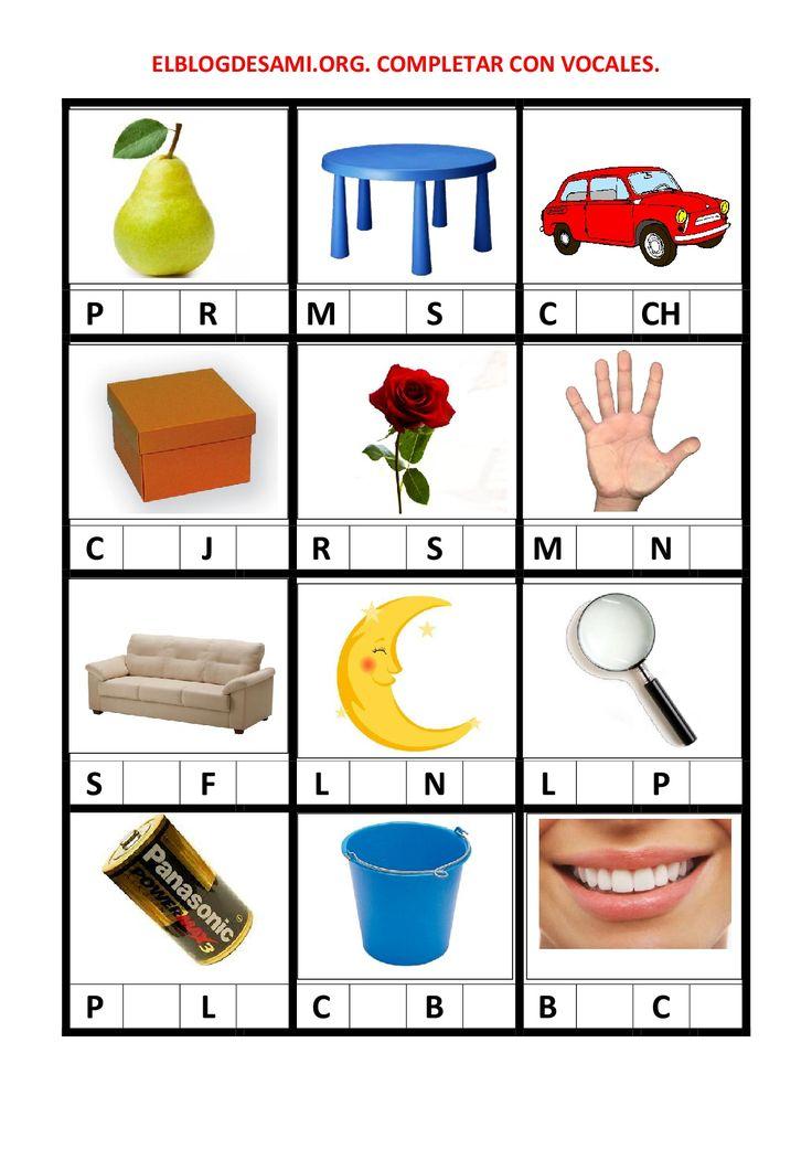 Objetivo(s): Aislar fonemas. Saber la posición de los fonemas. Añadir fonemas. Actividad(es): Identificar las imágenes. Reconocer y leer los fonemas consonánticos. Completar las palabras con los fonemas vocálicosque le corresponden. … Leer más »