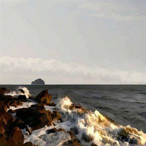Bass Rock from Rocky Shore. Ian Ledward (Holanda)