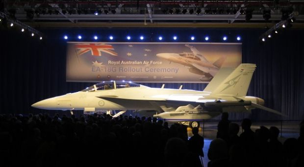 "First Boeing EA-18G ""Growler"" for Royal Australia Air Force.ECM capabilities: - Passive / Active Sensing. - Analysis of the threats and classifications. - Interference active electronic disturbance (radar and communication). - Electronic Paralysis with computer viruses.                    Shooting capabilities: - Air-to-air (AIM-9X Sidewinder, AIM-120 AMRAAM,)  - Elimination of enemy radar (AGM-88 HARM) Options give crews chance to participate directly in defence & attack similutaniously."