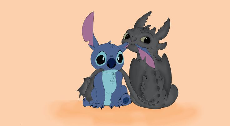 Stitch and toothless❤️