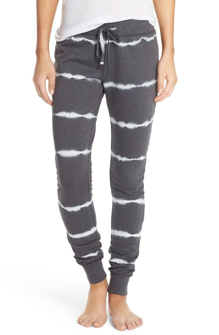 Keeping cozy at home while lounging in these ultra-soft fleece pants.