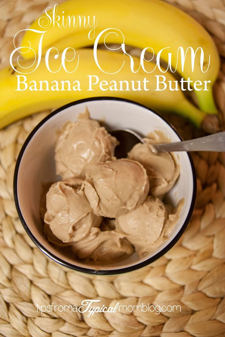 Two Ingredient Skinny Banana Peanut Butter Ice Cream. Dairy Free, Sugar Free, Soy Free, Egg Free, Gluten Free. Tips From a Typical Mom