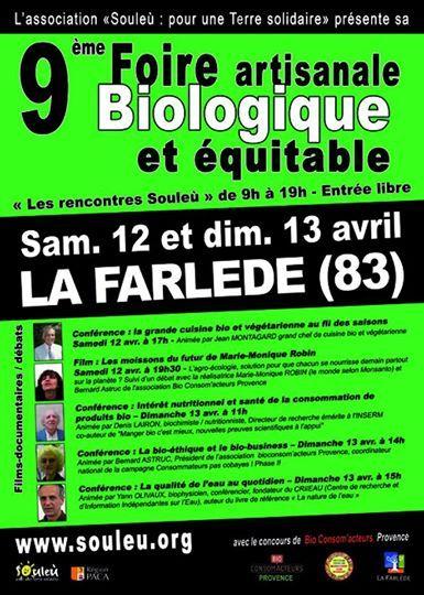 Foire Artisanale Biologique Et Equitable. Du 12 au 13 avril 2014 à la-farlede.