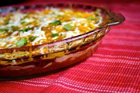 My Retro Kitchen: Warm Layered Mexican Dip