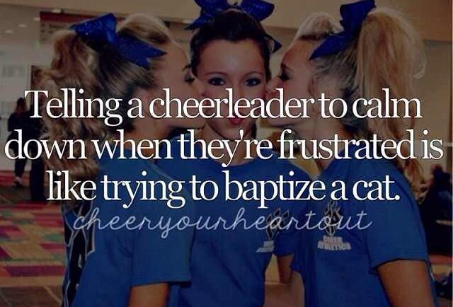 If you don't have a cheerleader in the house, then you have NO idea how true this really is! LOL!!