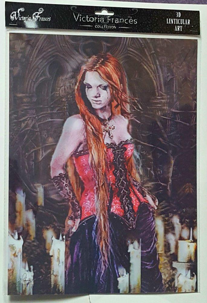 Brand New Licensed 3D Lenticular Victoria Frances RED BASQUE Vampire Gothic Art