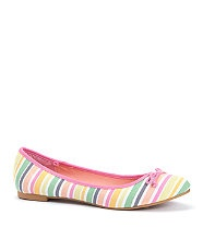 Multi Coloured Tutti Frutti Striped Ballet Pumps..... De mi tienda favorita: NEW LOOK