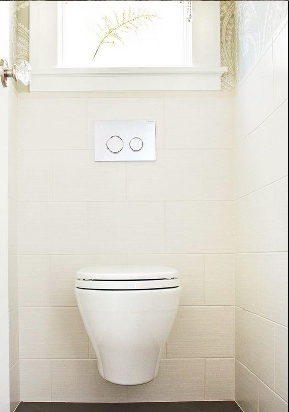 Saving Space And Water Toto S Aquia Wall Hung Toilet Via Houzz Blogtourvegas Bathrooms