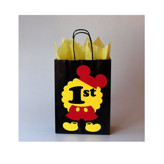Mickey Mouse Favor Bags for any Mickey Mouse Party! Im so happy that I created this design, its so cute, bright and unusual. Very happy with