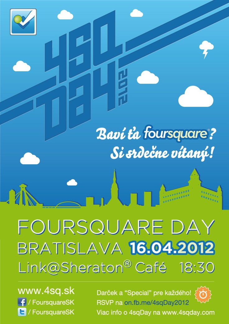 We're co-organizing the official Foursquare Day 2012 in Bratislava!