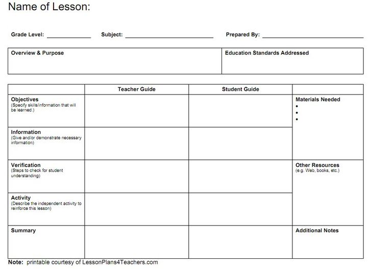 17 Best ideas about Blank Lesson Plan Template on Pinterest ...