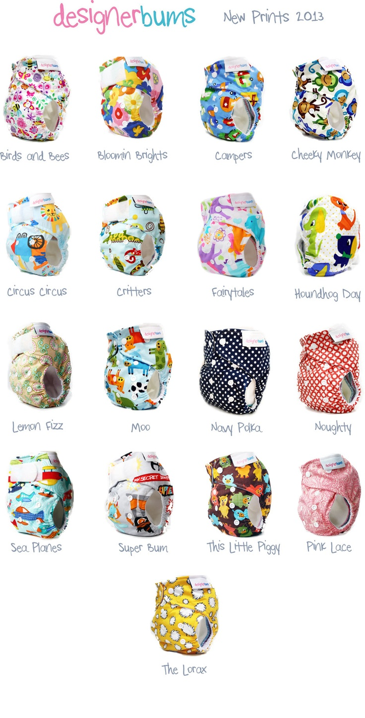 2013 Designer Bums Prints (April).  Too cute