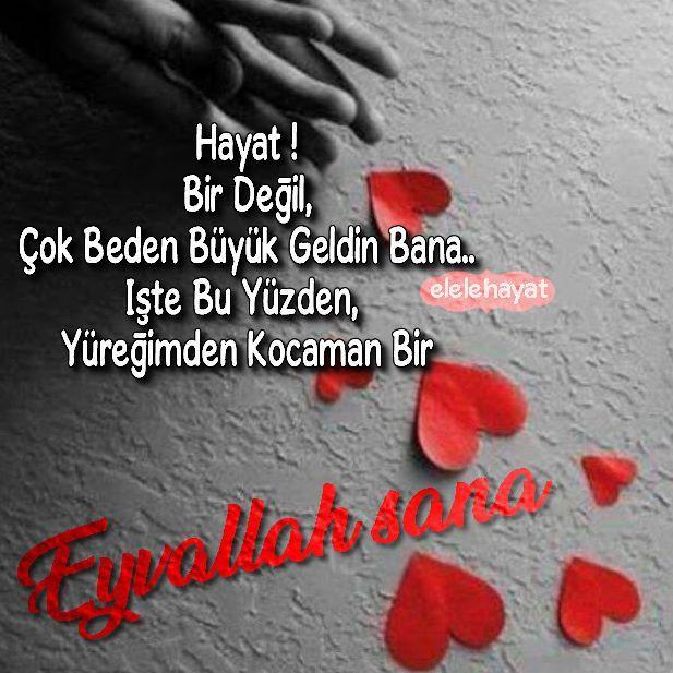Hayat !  Bir Değil,Çok Beden Büyük Geldin Bana..  İşte Bu Yüzden, Yüreğimden Kocaman Bir  Eyvallah Sana !. . .  @elelehayat  @elelehayat #hayat #işte #yüreğim #eyvallah #Aşk #Edebiyat #mizah #kitap   #asksozleri #eglence #sözler #sözlerköşkü #edebiyat #isyan #siirsokakta #siirduvarda #şair #sevgi #siir  #istanbul #hayırlı #gunaydin #life   #anlamlisozler #sevgi #love #şiirheryerde