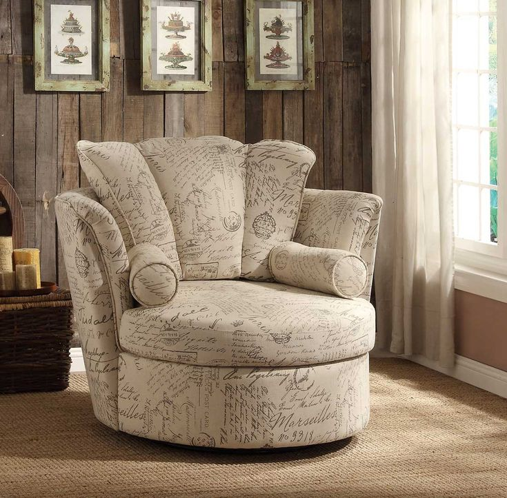 Homelegance aurelia swivel accent chair with 2 pillows for Furniture 7 letters
