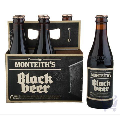Black Beer 330 ml – Monteith's  X 6 bottles | Shop New Zealand