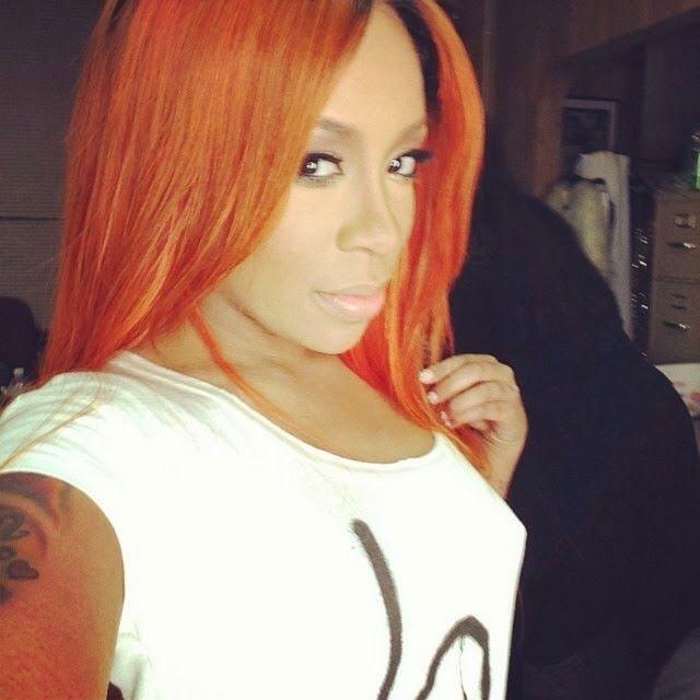 K. Michelle Hair color is close to that flaming desire hair color