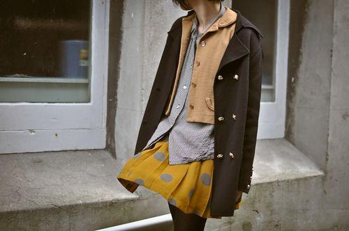 tokyo street fashion, layering