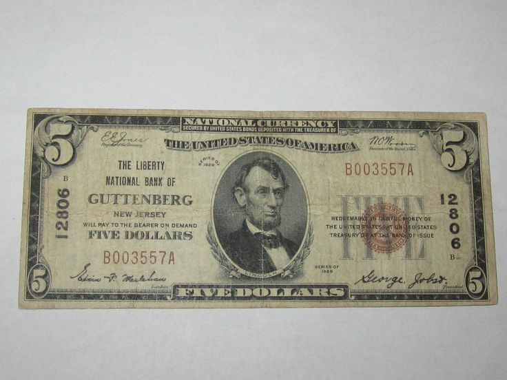 Pin by Collectible Notes on New Jersey National Bank Notes