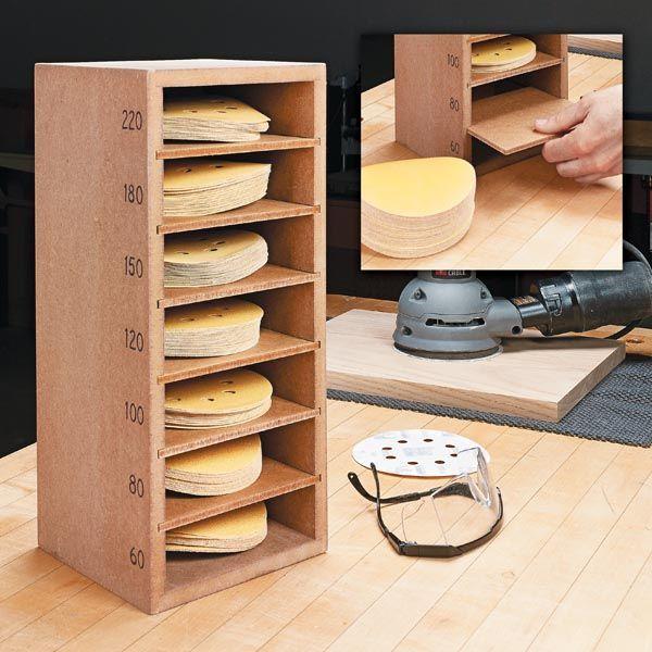 Armazenamento de disco de lixamento   – Atelier Werkstatt