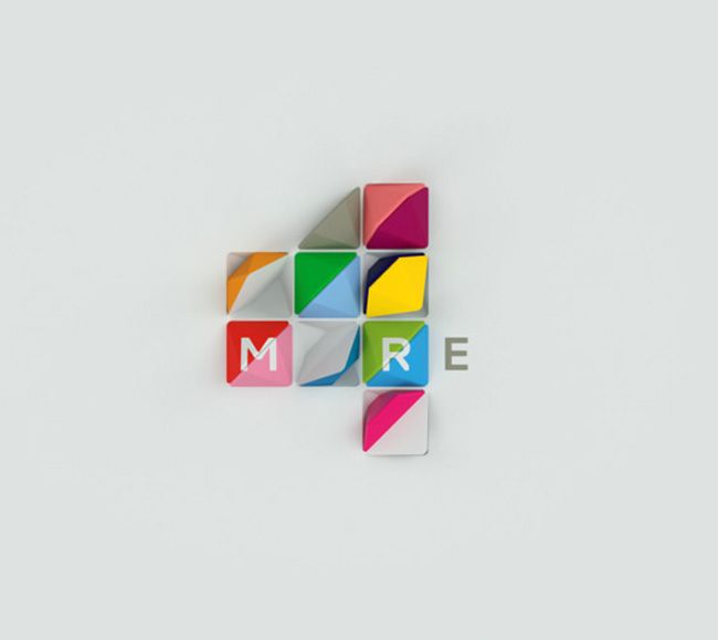 More4 tv channel rebrand (check out the identity video at the link. it is fantastic!)