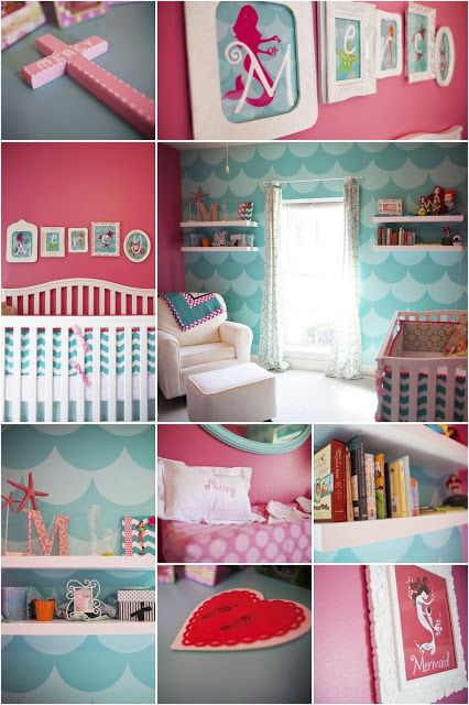 Blue wall- very cool, maybe one wall in Annie's room, or on the backs of her book shelves.