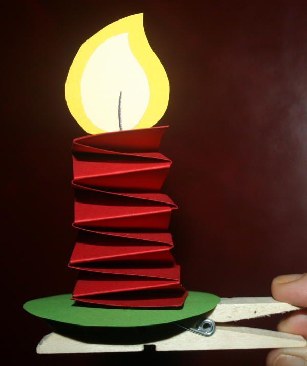 LAVORETTI PER NATALE candelina con molletta | Lapappadolce | Pagina 3