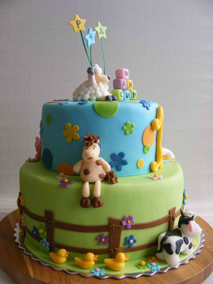 Farm Animal Birthday Cake Ideas 12284 Farm Animals Cake Cr
